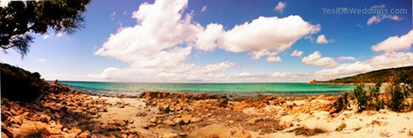 secret beach location near Dunsborough perfect for weddings with up to 40 guests