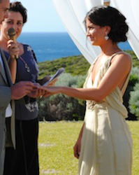 fun and relaxed wedding ceremony in cowaramup