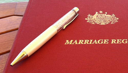swarovski crystal pen for marriage wedding documents