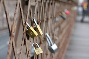 love locks on the brookly bridge are in danger of being removed by authorities
