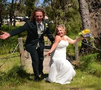 fairytale wedding in alexandra bridge western australia