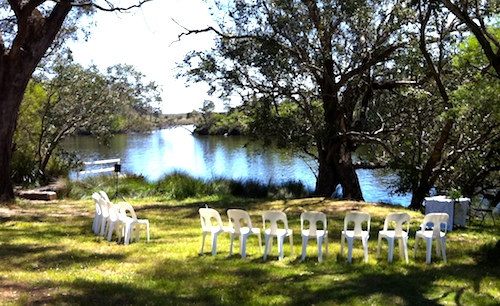 fairytale wedding on the banks of the blackwood river