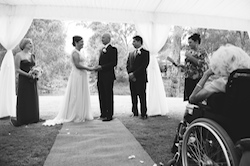 Lisa and John's guests thought the wedding ceremony by Anita Revel was the nicest service they've ever been to.