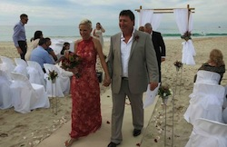 beach wedding at bunker bay conducted by anita revel celebrant