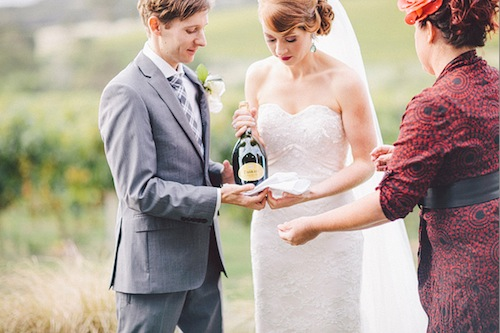 Stella and Ryan personalised their margaret river wedding