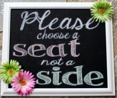 printable sign for a wedding