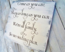 wedding sign to come as you are