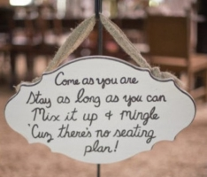 wedding sign asking guests to mingle