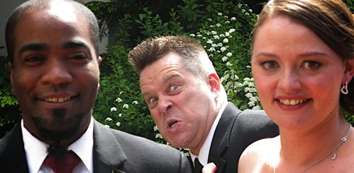 nobody wants talky face in their wedding photos