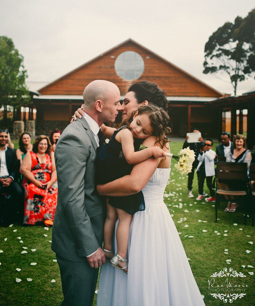 wedding first kiss - the Celebrant's view