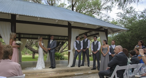 married at Yallingup Tea Gardens by Celebrant