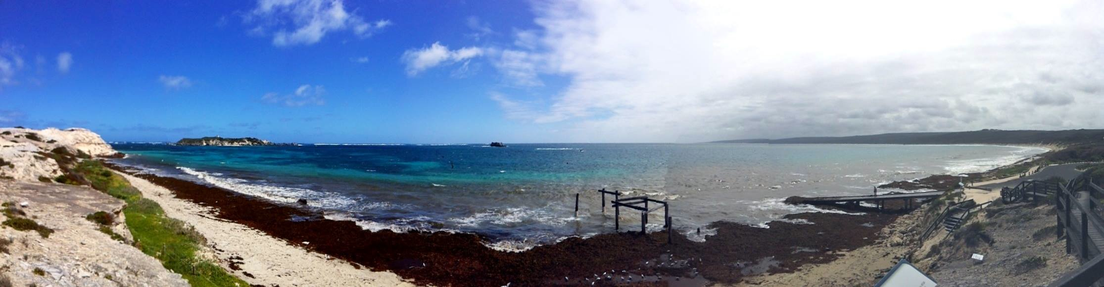 weather clearing at Hamelin Bay wedding