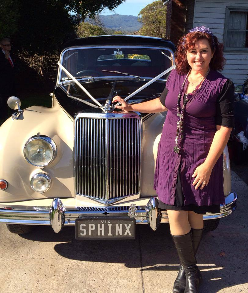 Anita Revel travelled to the wedding in this vintage car