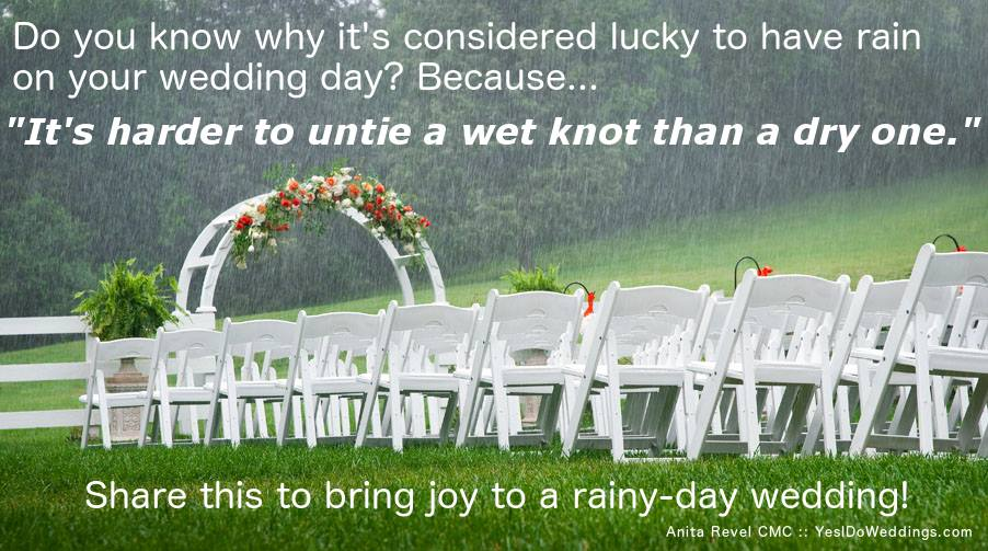 advice for rainy day wedding