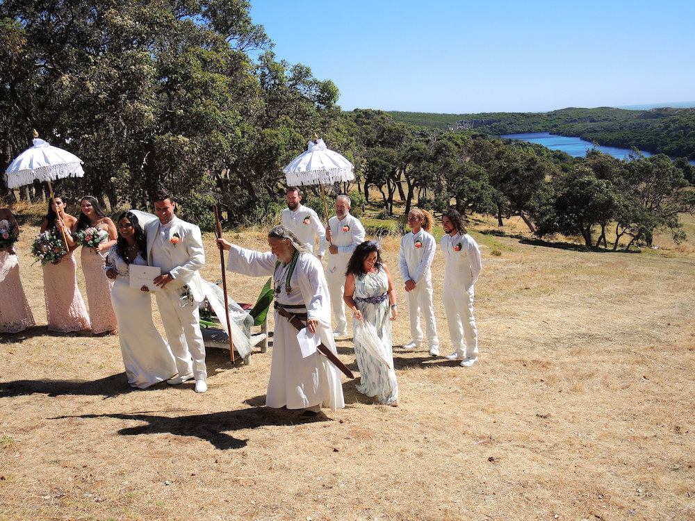 wedding with druid priest margaret river