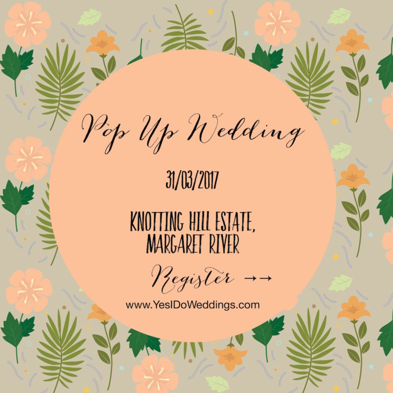 pop up wedding western australia