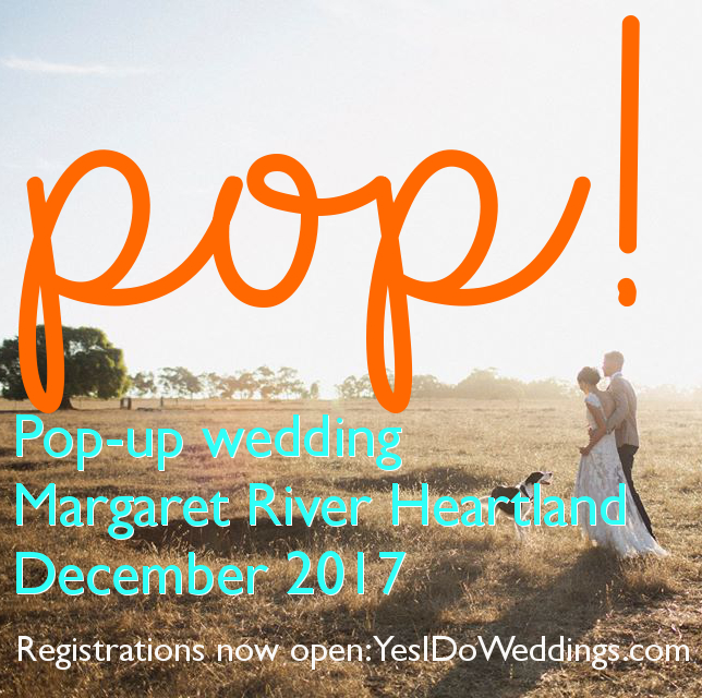 pop up wedding margaret river heartland