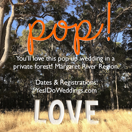 pop up wedding margaret river region
