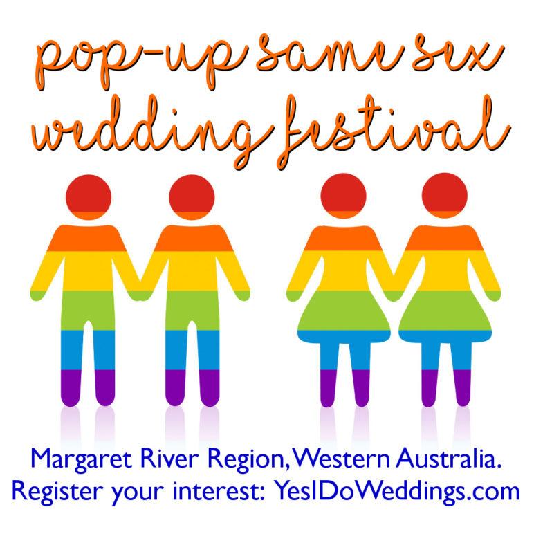 pop up same sex wedding festival