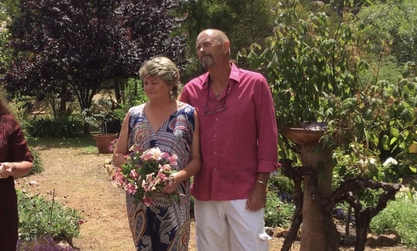 surprise wedding in vegetable garden